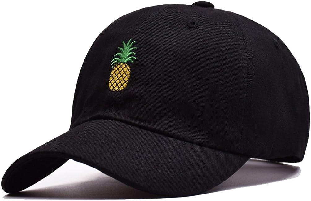 Pogah Pineapple Distressed Baseball Cap Dad Hat Women Men