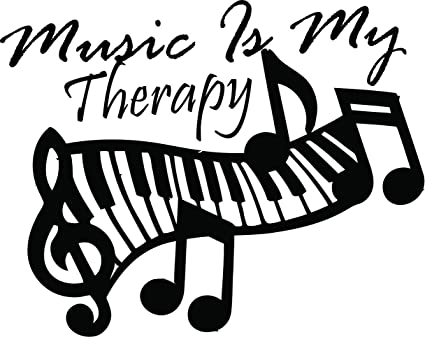 Amazoncom All Things Valuable Music Therapy Quote Piano Keyboard