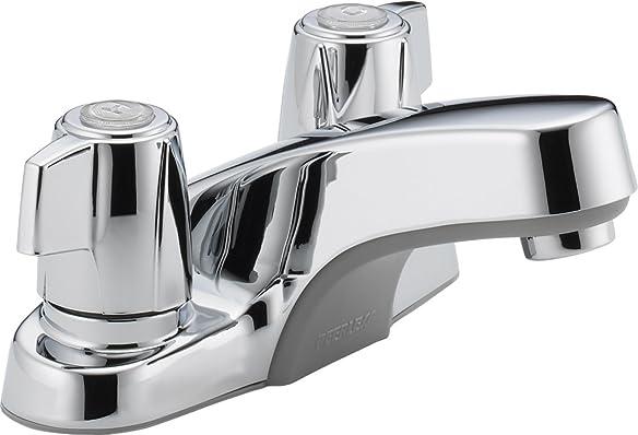 Peerless P241LF Classic Two Handle Bathroom Faucet, Chrome