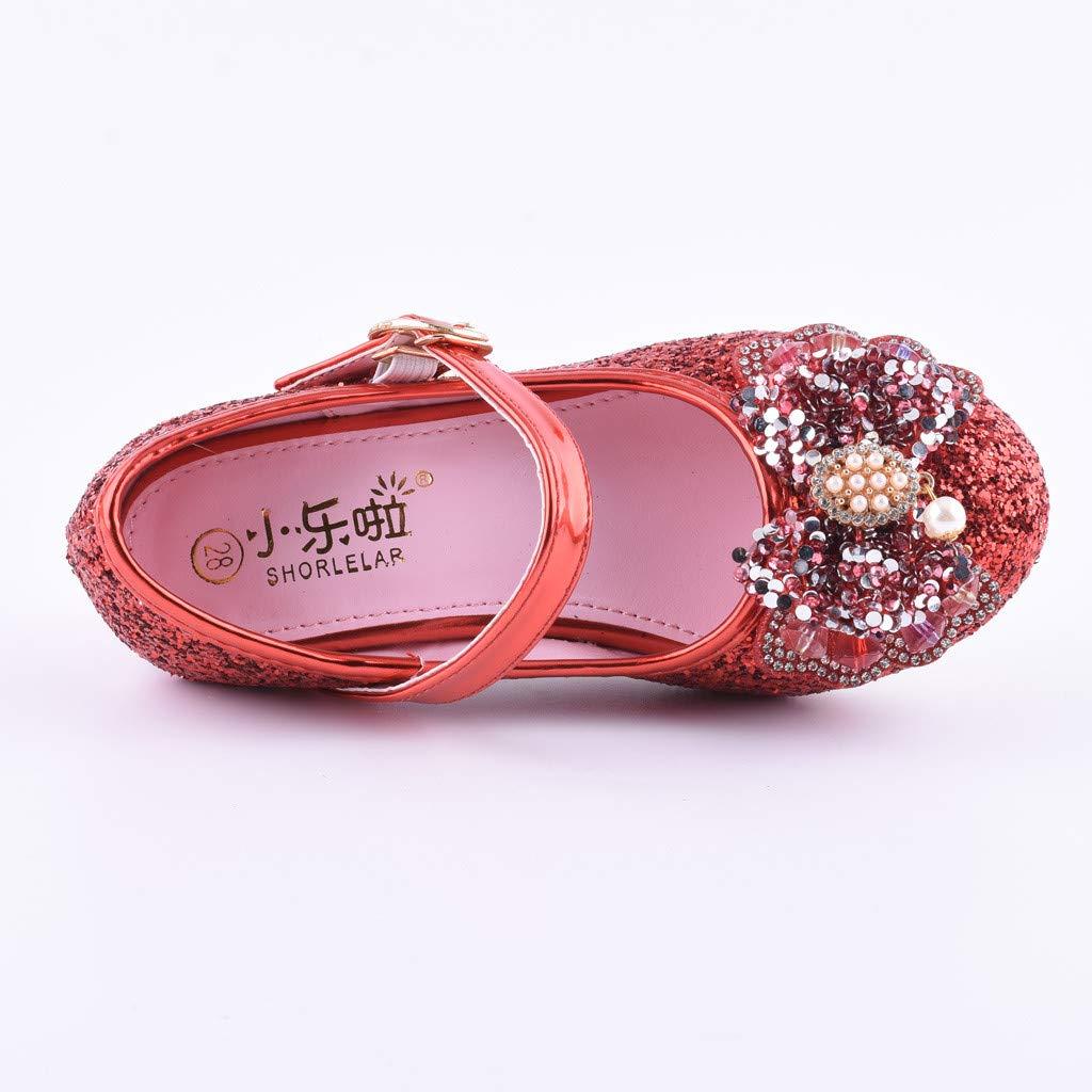 d95847e2 Zapatos Mitlfuny Zapatos de Baile de Tango Latino para Niños Bailarina  Vestir Fiesta Arco Princesa Sandalias Rhinestone ...