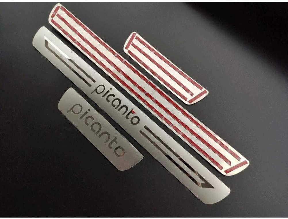 LLCWER 4pcs Set Einstiegsleiste Schweller Edelstahl Auto Styling Zierleiste F/üR Kia Picanto Gt X Line 2013-2020