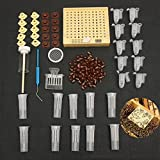 TOOGOO 155pcs plastic Queen Rearing System Cultivating Box Cell Cups Bee Catcher Cage Beekeeping Tool Equipment