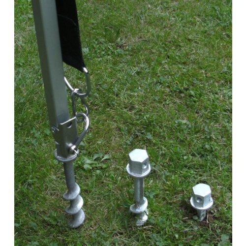 WOHNMOBIL CAMPING - MARKISEN-HALTER mit SCHRAUBHERINGEN - ALU GEHÄRTET + EDELSTAHL 25 mm Schäkel über KOPF - DER STÄRKSTE IN SEINER GRÖSSE - 4er SET (2x2) mit 25 mm EDELSTAHL über KOPF Metallschäkel - DER STABIELO - PROF