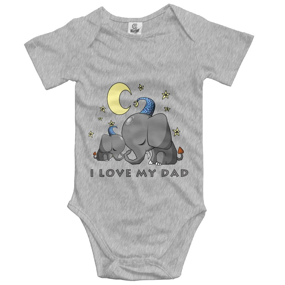c96c7acad Amazon.com  KingFong Elephant My Mother Love Me Short Sleeve Infant ...