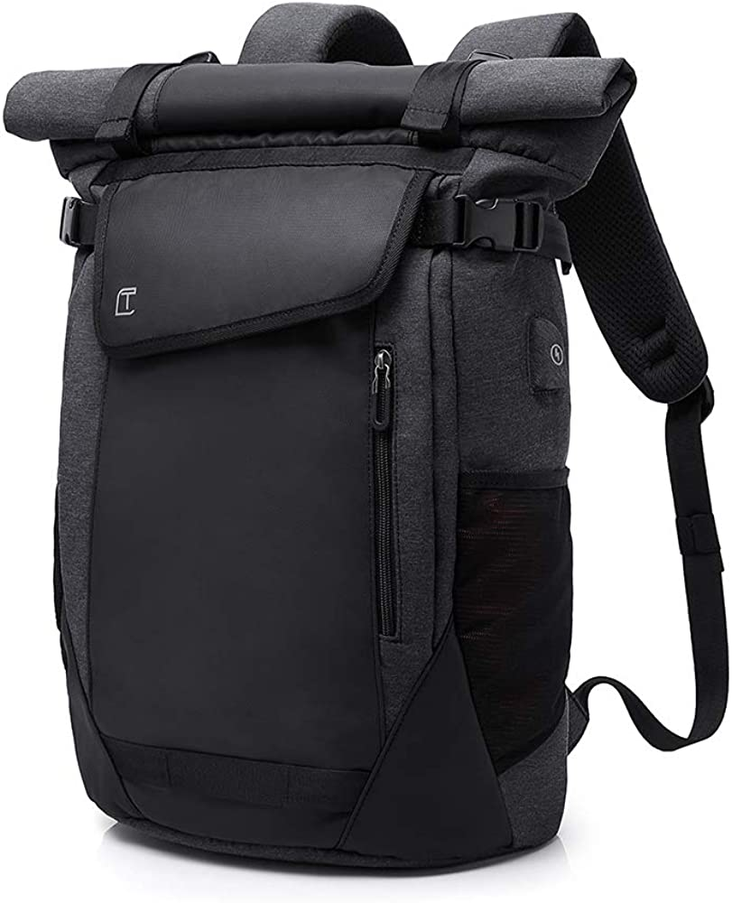 Lannsyne Hiking Backpack 36L Waterproof 16 Inch Laptop Bag School Campus Travel Rucksack With USB Charging Port