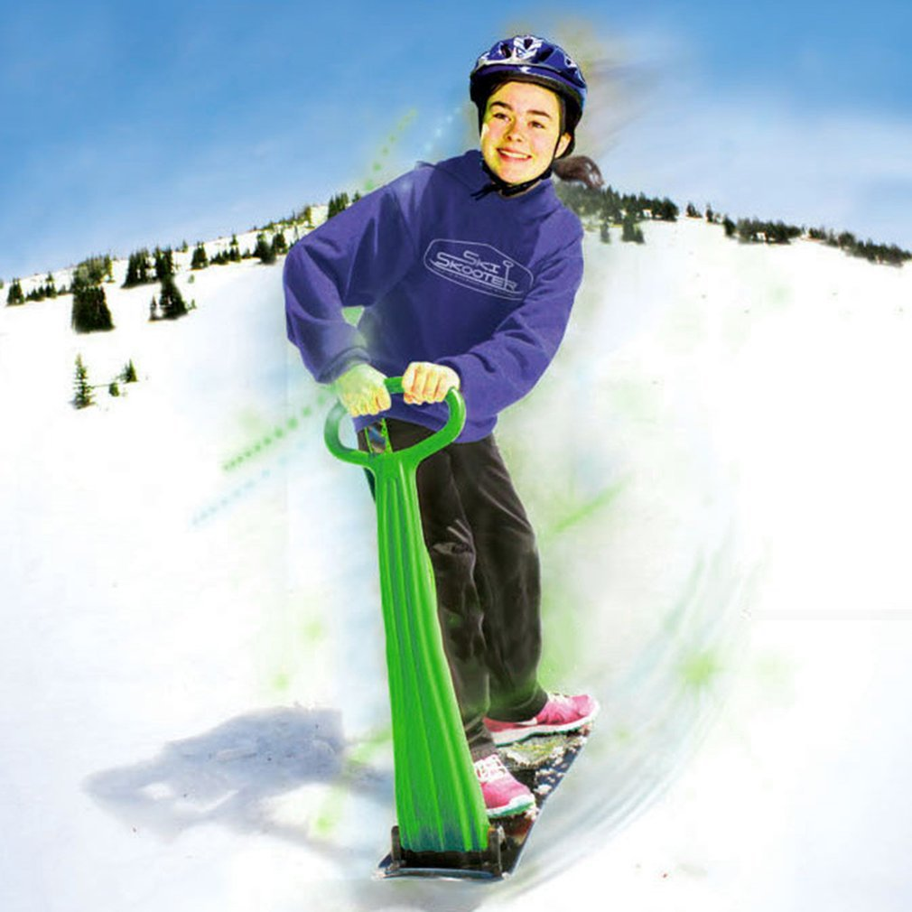 Outdoor Sports Portable Foldable Plastic Freestyle Single Board Snow Grass Sand Board with Armrests for Children & Adults