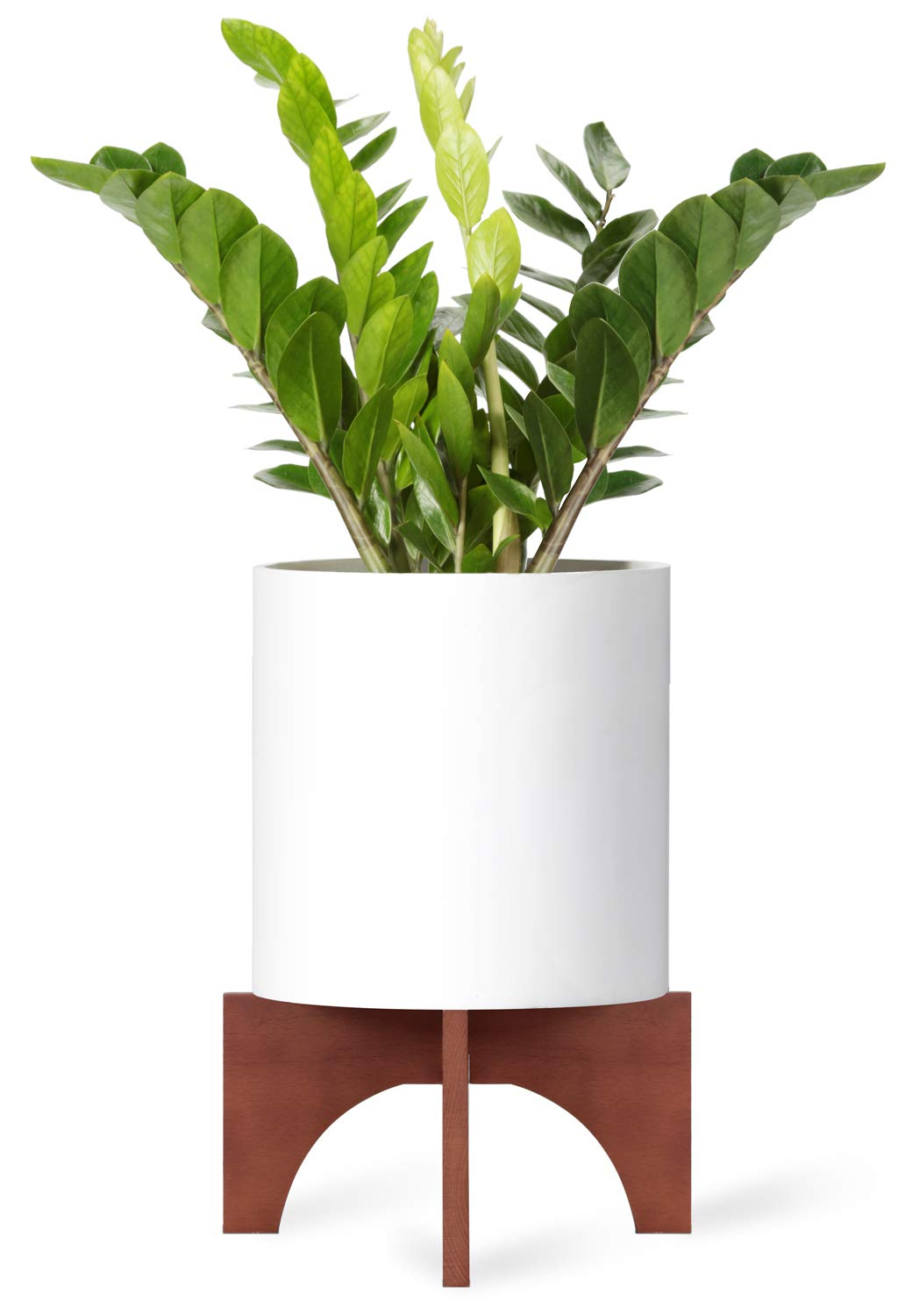 Mkono Plant Stand Wood Mid Century Flower Pot Holder Home Decor 12 Inch (Planter Not Included)