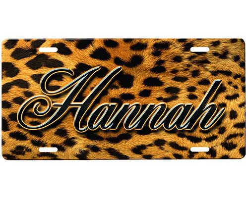 Leopard Print License Plate (Cheetah Print License Plate)