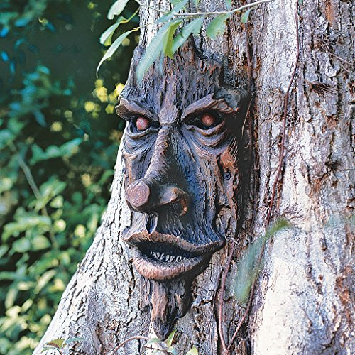 The Spirit of Nottingham Woods: Greenman Tree Sculpture Outdoor Tree Decoration