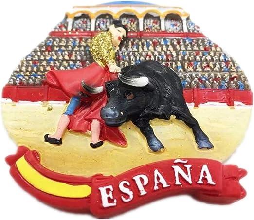 Weekinglo Souvenir Nevera Imán Taurina España Resina 3D Artesanía ...