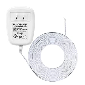 24 Volt C-Wire Power Adapter/Transformer for Ecobee Nest Honeywell Emerson Smart WiFi Thermostat by Fyve Global | 25 ft Cable
