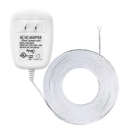 24 Volt Transformer, C-Wire Power Adapter for Nest Honeywell Emerson Sensi,  Nest Hello Skybell Smart WiFi Thermostat and Doorbell Power, 25 ft Cable