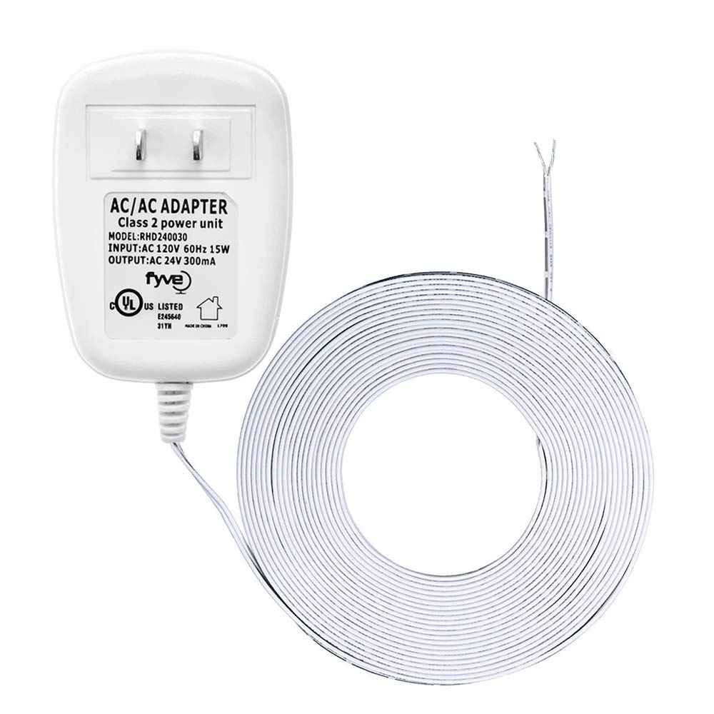 24 Volt C Wire Power Adapter Transformer For Ecobee Nest Honeywell Thermostat Wiring Wifi Smart By Fyve Global 25 Foot Cable
