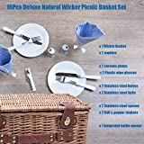SatisInside New USA Insulated Deluxe 16Pcs Picnic
