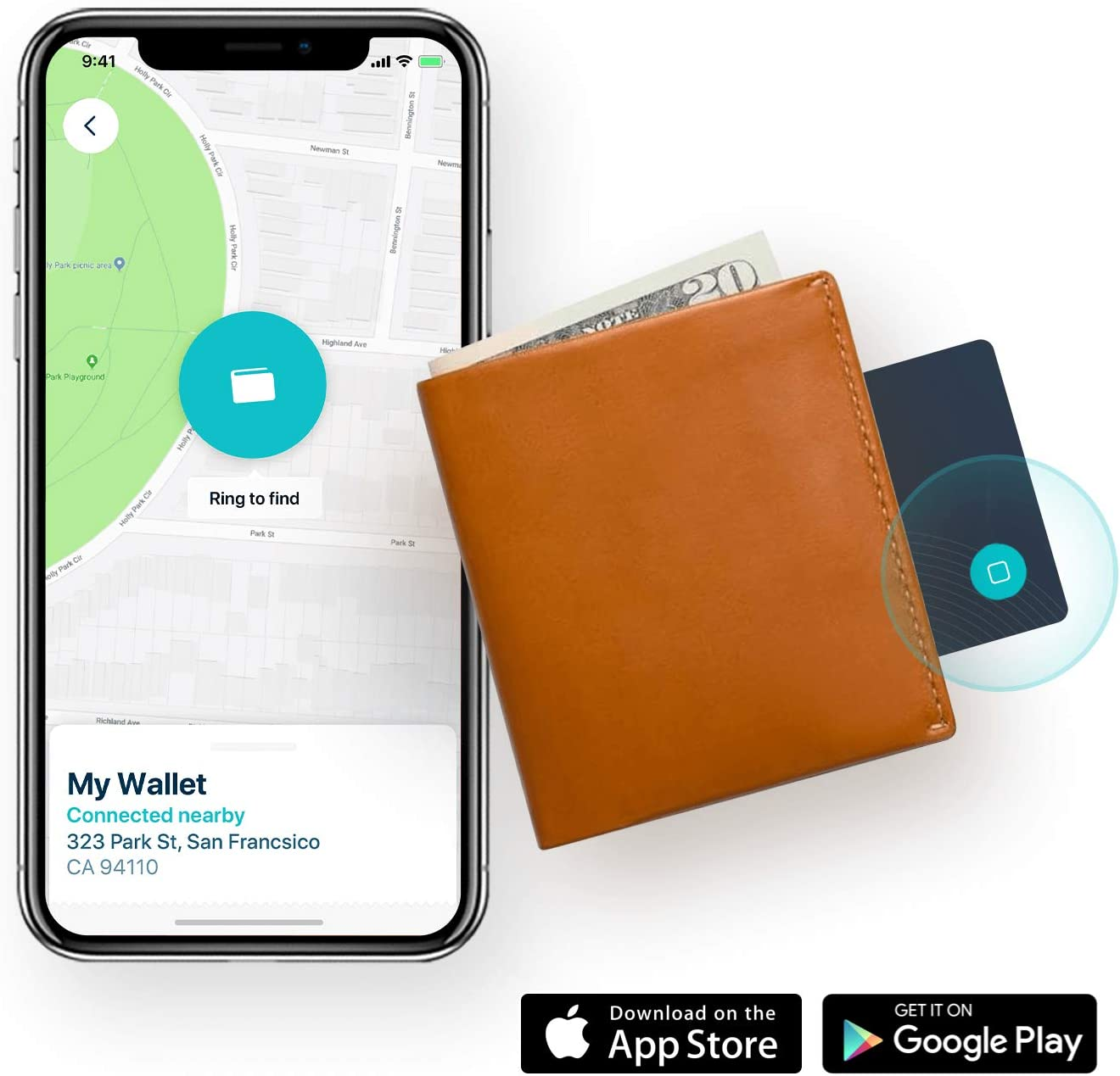 Ultra Slim Rechargeable Bluetooth Tracker 2 Cards // 1 Charger with a Lifespan of Over 8 Years Ever Again You/'ll Never Lose Your Wallet Phone Locator Finder Card Safedome or Anything Purse