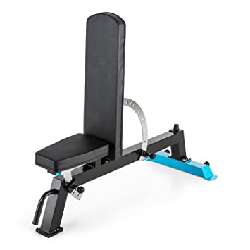 Capital Sports Compactar – Banco de musculación en metal que se puede utilizar como beckrest y como asiento en ángulo con rollos debajo para una ...