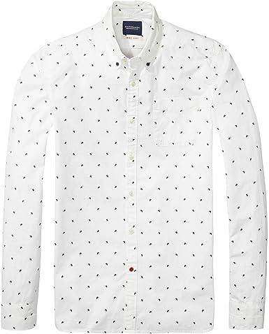 Camisa Scotch&Soda Blanca Dibujos L: Amazon.es: Ropa y accesorios