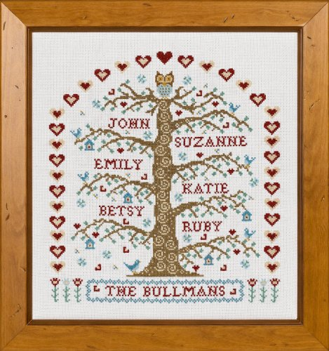 Historical Sampler Company Ltd My Family Tree Cross Stitch (Tree Cross Stitch Family)