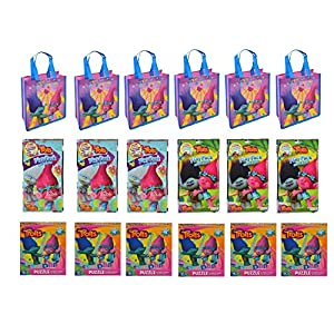 Assorted Party Favor Trolls Small Non-Woven Tote Bag, Play N Go Game & Puzzles-18 Pcs - 61vs9XAO4BL - Assorted Party Favor Trolls Small Non-Woven Tote Bag, Play N Go Game & Puzzles-18 Pcs