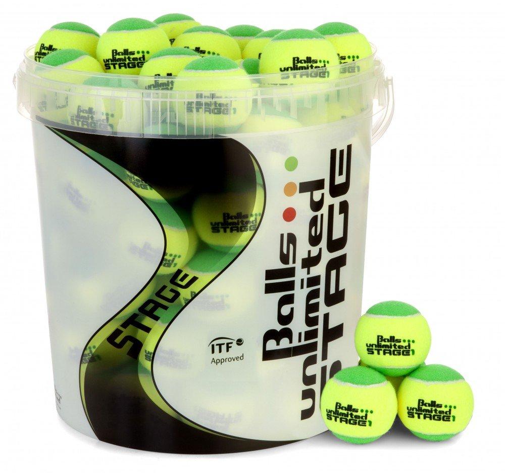 Balls ... unlimited Balleimer Stage 1/2/3 mit Deckel und Henkel fü r 60 Tennisbä lle