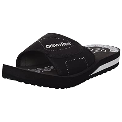 5c292b40f733a6 Ortho + Rest Black Slippers for Women: Buy Online at Low Prices in ...