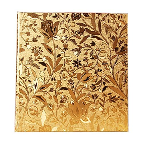 (Ksmxos Frame Cover Photo Album 600 Pockets Holds 4x6 Photos Gold)