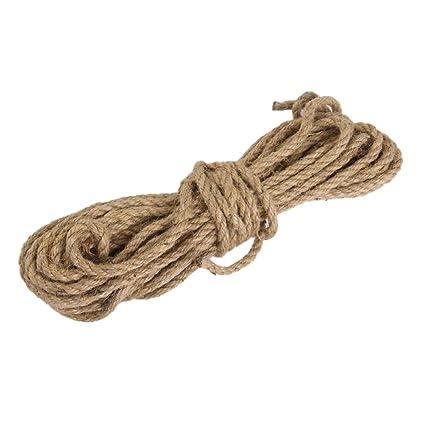 d3cc2422536b 6mm Jute String Twine Twisted Hessian Burlap Hemp Cord Rope for Craft 10M