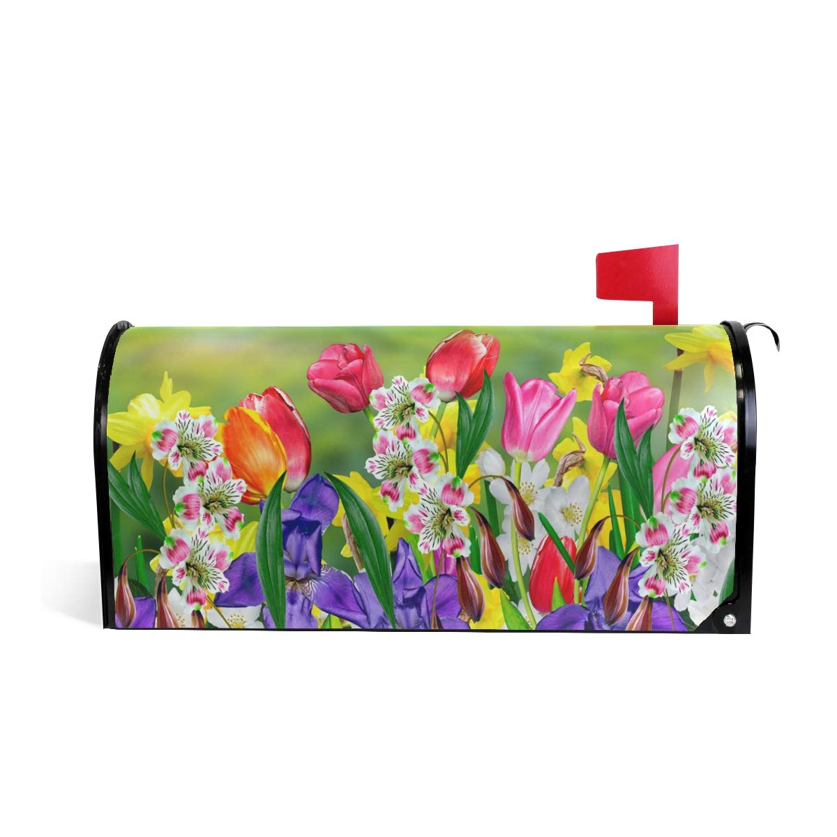 WOOR Spring Flowers Daffodils and Tulips Magnetic Mailbox Cover Oversized-20.8''x 25.5''