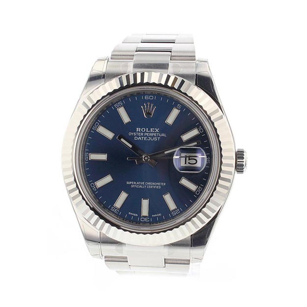 fea1c1b5ad1 Amazon.com: Rolex Datejust Ii 41mm Steel Blue Dial Men's Watch 116334:  Watches