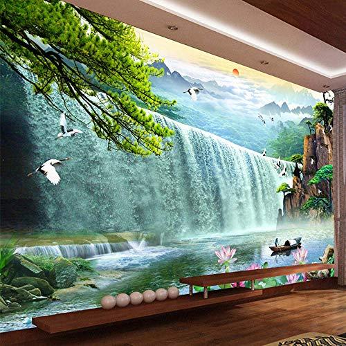 Pbldb 3D Waterfalls Nature Scenery Mural Wallpaper Living Room Tv Sofa Study Background Wall Paper Home Decor-350X250Cm by Pbldb (Image #1)