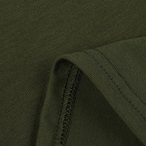 Donna Bat Casual Taschino Tops Lunga T Taglie Manica Forti Camicette Ragazza Inverno Abbigliamento Verde Camicetta Eleganti Autunno Da Girocollo shirt 8nxqEa