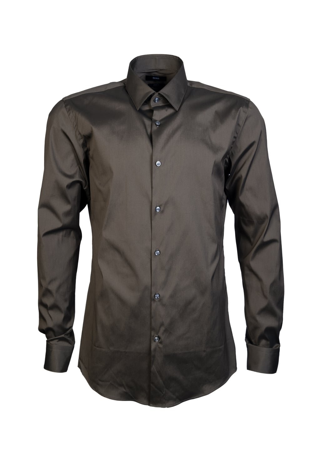 Boss Isko Stretch Shirt In Khaki 41