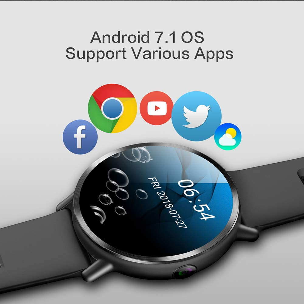 LEMFO LEMX Bluetooth Smart Watch, Android 7 1 Wearable Devices