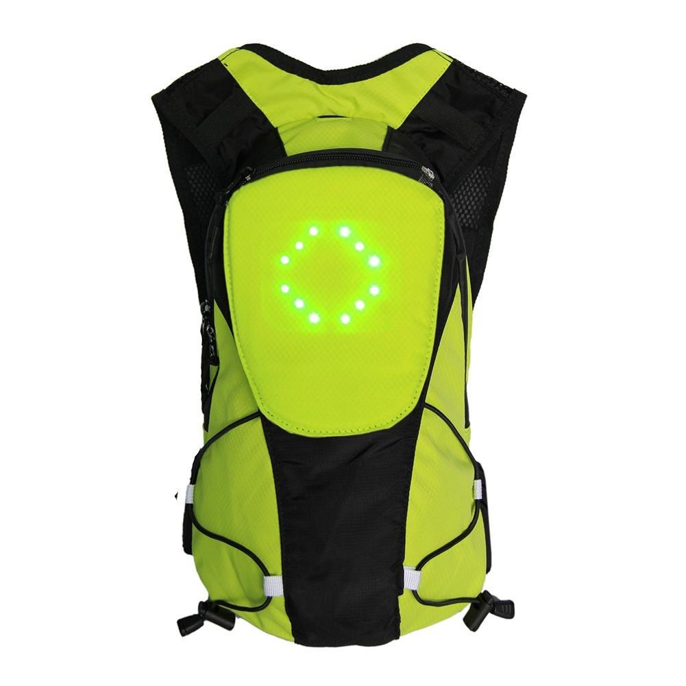 Keptfeet Sac /à Dos de Cyclisme 5 L avec Affichage LED arri/ère et Signal de s/écurit/é pour Les Sports de Plein air pour Homme et Femme
