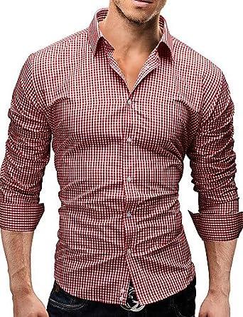 Camiseta de manga larga para hombre QWG, cuello Casual ...