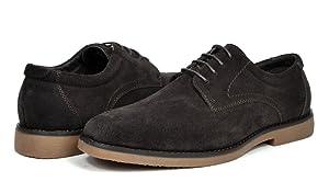 BRUNO MARC MODA ITALY Wrangle Men's Classic Original Suede Leather Desert Storm oxford shoes dark-brown size 10.5