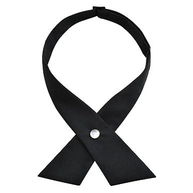621e548d82847 Alizeal Nœud Papillon Croisé pour Uniforme pour Homme Femme Fille-Noir