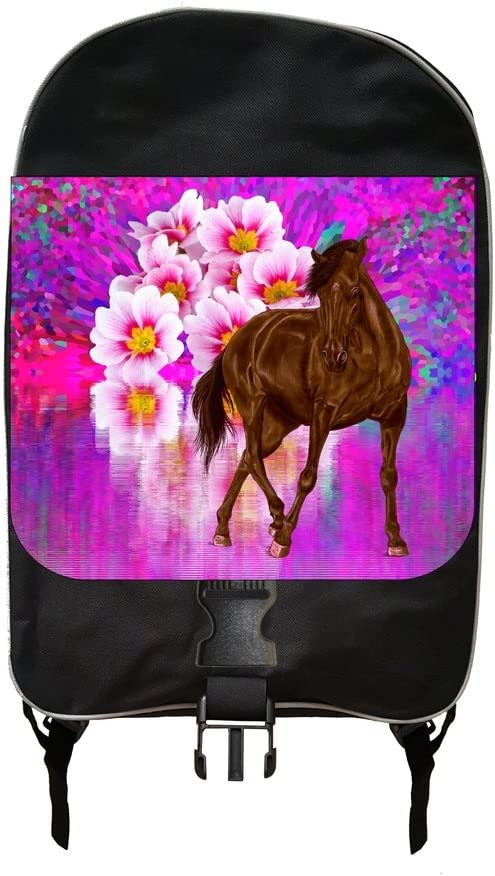 Horse And Flower Lake Jacks Outlet School Backpack and Pencil Case Set