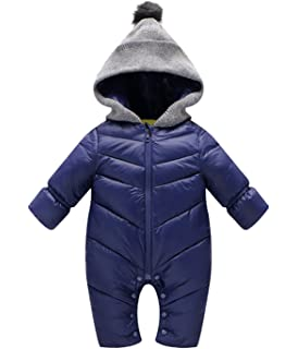 99ac46596 Aivtalk Winter Baby Boys Girl's One-Piece Cable Hood Down Snowsuit Jumpsuit