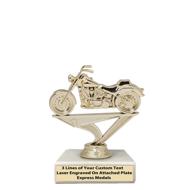 Express Medals (1 – 50個パック 1 – 50個パック 3位 勝者 チャンピオン カスタムオートバイトロフィー 本物の大理石ベース 刻印プレート29 B07KV5ZKHS  5