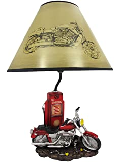 Resin Table Lamps Memory Lane Retro Motorcycle 19 Inch Table Lamp 12 X 19 X  12