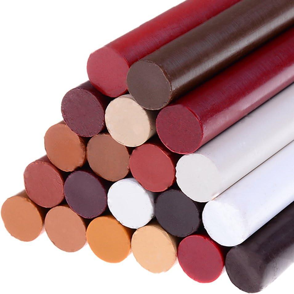 LIGONG 20Pcs Repair Touch-Up Crayon Kit Wood Furniture, Floor Filler Repair Stick Repair Wax Crayon Scratch Patch Paint Pens Sticks