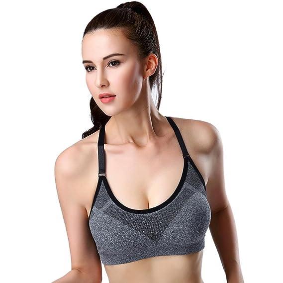 Fossen Sujetador Deportivo para Mujer con Relleno del Yoga Running ...