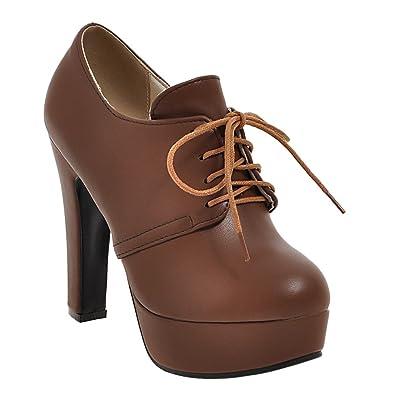 f5d3320a8a4926 MissSaSa Damen high Heel Schnür-Pumps  Amazon.de  Schuhe   Handtaschen