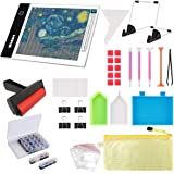 Wsdart 133PCS Diamond Painting A4 LED Light Pad Kit- Diamond Art Light Board with 5D Painting Tools, Apply to Full Drill…