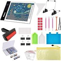Ligtek 133PCS Diamond Painting A4 LED Light Pad Kit- Diamond Art Light Board with 5D Painting Tools, Apply to Full Drill…
