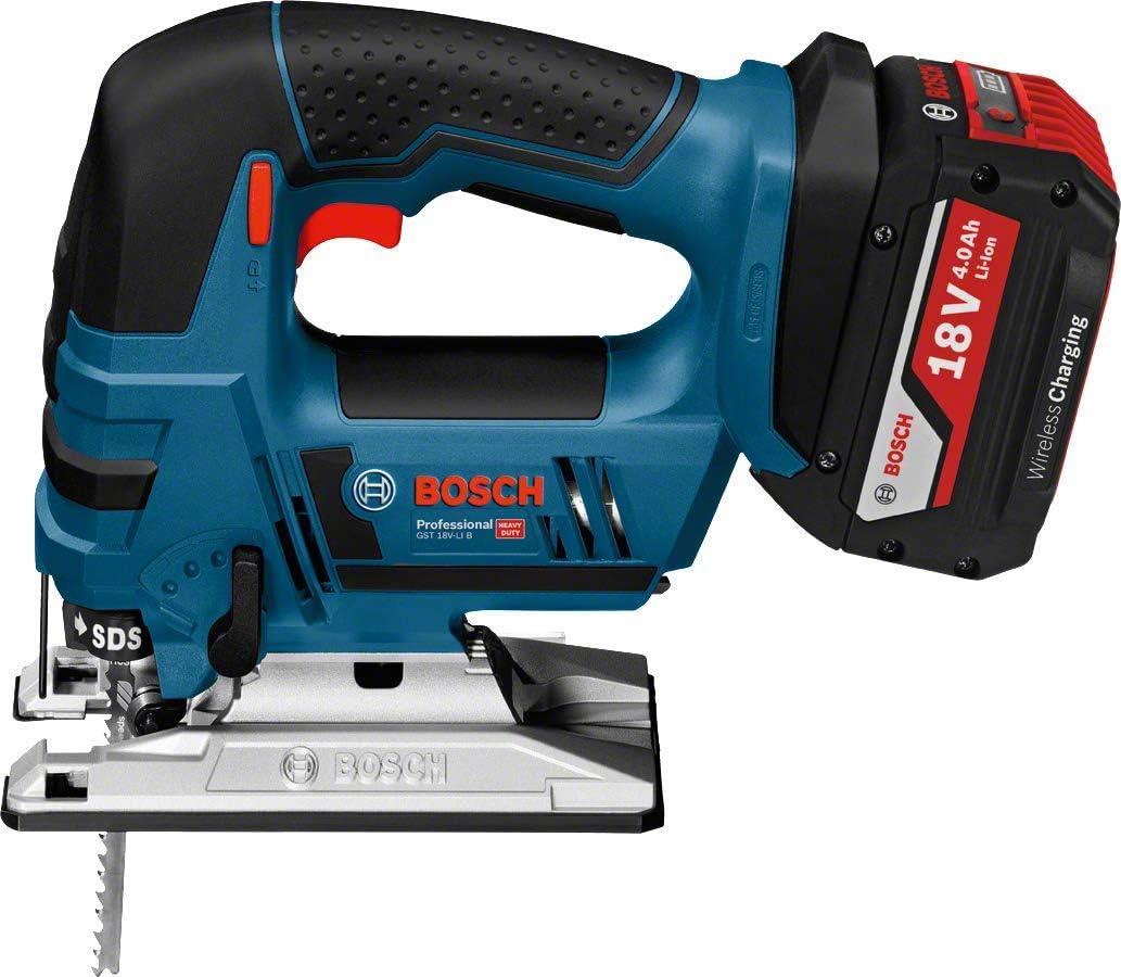 Bosch Professional 06015A6106 GST 18V-Li B Scie Sauteuse avec Batterie 2 x 4 0 Ah 18 V Profondeur de Coupe Bois 120 mm