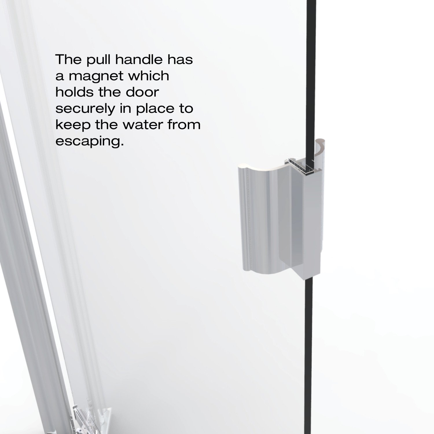 Basco Classic 28.625 to 30.125 in. width, Semi-Frameless Pivot Shower Door, Clear Glass, Silver Finish by Basco Shower Door (Image #6)