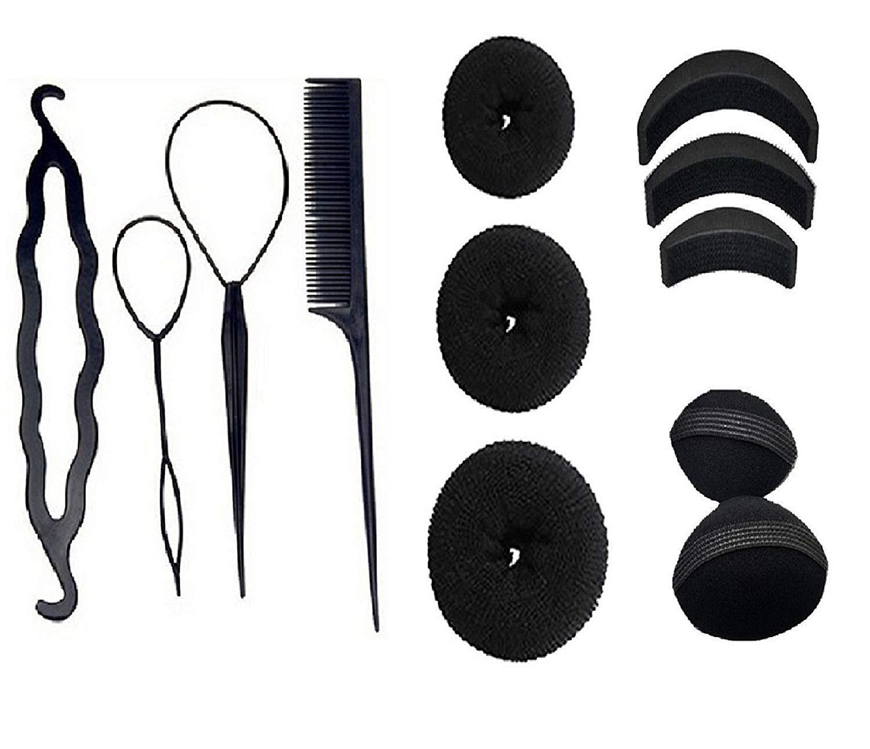 Stylazo Hair Accessories Of DIY Kit, Hair Volumizing Bumpits, Hair Donuts,Hair Puff Maker -12 Pcs Combo
