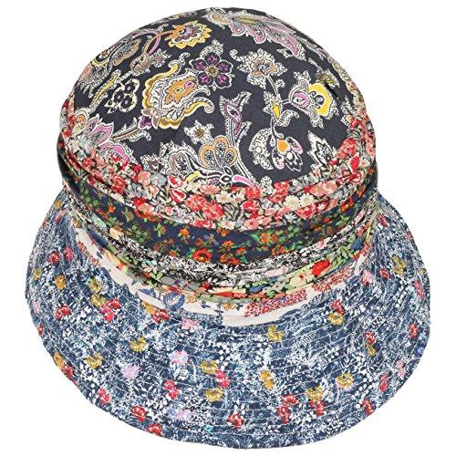 Blu Grevi Estivo Di Donna Tessuto Patchwork Cotton Cappello Cloche Da zxSnqvnH